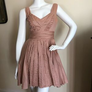 Prada dusty rose cocktail dress